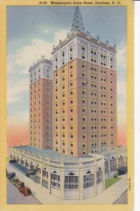 Washington Duke Hotel, Durham, North Carolina, United States, PU-1945