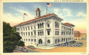 Savannah, GA USA Post Office Unused