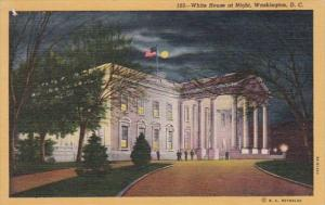 Washington D C White House At Night Curteich