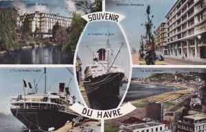 RP; Hand-colored, 5-Views, Souvenir du Havre, Harbour, Seine Maritime, France...