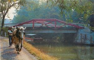 New Hope Pennsylvania~Mule-drawn Barge Ride On Delaware Canal~FootBridge 1950