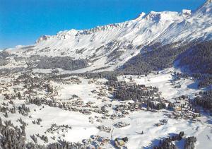 Switzerland Valbella Lenzerheide Gesamtansicht Winter Mountains