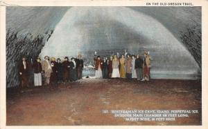F7/ Ice Cave Idaho Postcard c1910 Oregon Trail Perpetual Ice Interior