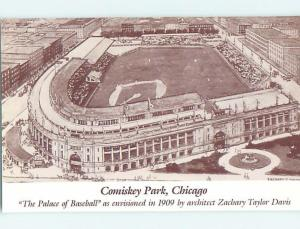 1980's Postcard PAST ERA VIEW OF BASEBALL STADIUM Chicago Illinois IL HM5093