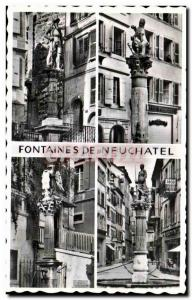 Old Postcard Fountains De Neuchatel