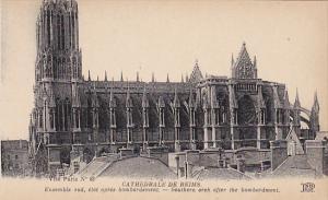France Reims Cathedrale Ensemble sud etat apres bombardement