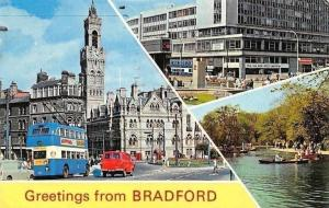 England Bradford Greetings! (Yorkshire) Town Hall, Forster Square, Lister Park