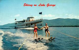 New York Lake George Water Skiing 1963