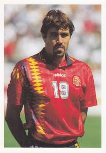 Julio Salinas Spain Spanish International Football Striker Postcard