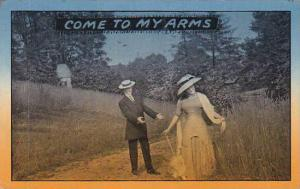 Romantic Couple Come To My Arms 1911