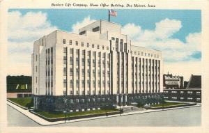 Des Moines Iowa~Art Deco Bankers Life Company~Home Office Bldg~Wide Stairs~1940s