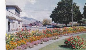 Canadian Pacific Railway Gardens and Depot, Kamiloops, British Columbia, Cana...