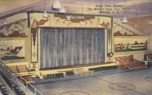 Stage Interior View World's Only Corn Palace Mitchell South Dakota 1948 Curteich
