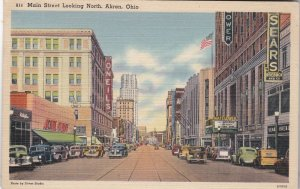 Ohio Akron Main Street Looking North 1950 sk5135