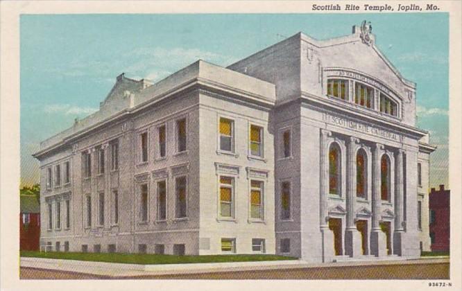 Missouri Joplin Scottish Rite Temple 1955 Curteich