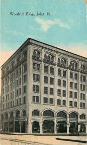 Joliet Illinois~Woodruff Building~Shops~Watches Repaired~1917