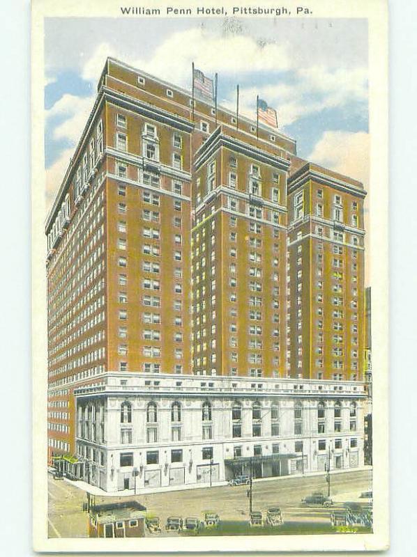 W-Border WILLIAM PENN HOTEL Pittsburgh Pennsylvania PA HQ4796