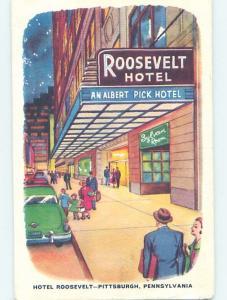 Unused 1940's HOTEL SCENE Pittsburgh Pennsylvania PA B1973