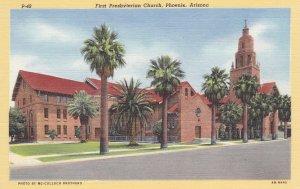 PHOENIX, Arizona, 30-40's ; First Presbyterian Church