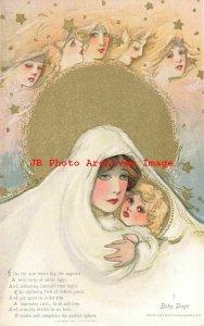 6 Postcards Set, Samuel Schmucker, Detroit Publishing, Childhood Days