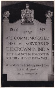Here Lies Civil Services Of India WW2 Real Photo Grave Postcard