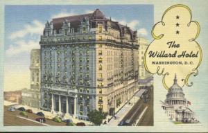 The Willard Hotel ~ Washington DC ~ Pennsylvania Avenue Vintage Linen Postcard