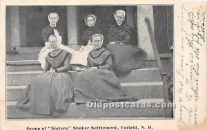 Old Vintage Shaker Post Card Group of Sisters  Settlement Enfield, New Hampsh...
