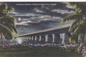 Florida Overseas Highway Bridge At Pigeon Key By Night In The Florida Keys 19...