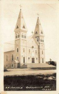 Greenville ME Roman Catholic Church Real Photo Postcard