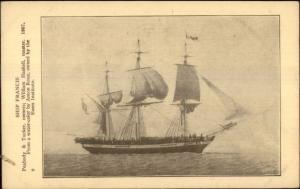 Essex Institute Tall Schooner Ship Series c1920s-30s Postcard #9 FRANCIS