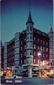 Idanha Hotel, City Center, Boise ID Vintage Postcard C61