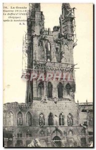 Old Postcard Militaria Great War 1914 15 The Belfry of Ypres (Belgium) after ...