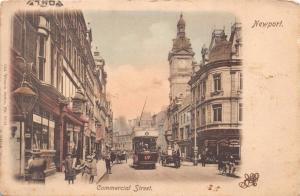 NEWPORT MONMOUTHSHIRE WALES UK~COMMERCIAL ST~TRAM #17~WRENCH #6034 POSTCARD