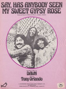 Say Has Anybody Seen My Sweet Gypsy Rose Dawn 1970s Sheet Music