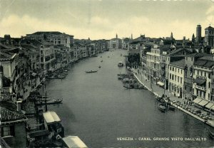 Italy The grand canal seen from above Postcard