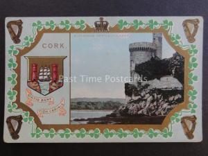 Ireland Co. Cork BLACKROCK CASTLE Heraldic Coat of Arms - Old Postcard