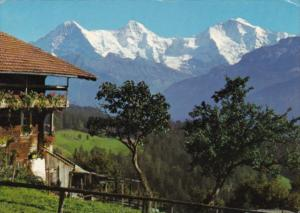 Switzerland Bern Eiger Monch und Jungfrau