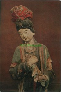 China Postcard - Sculpture in The Sheng Mu Hall   RR8838