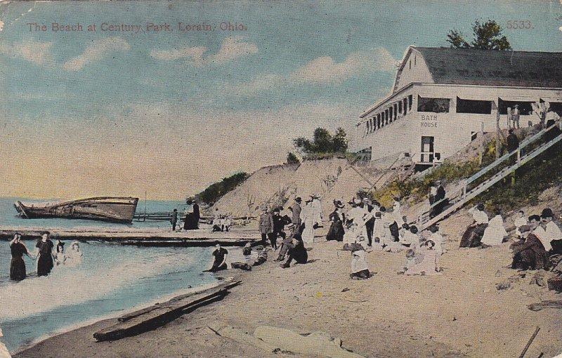 LORAIN, Ohio, 1900-10s; The Beach at Century Park