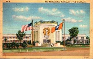 New York World's Fair 1939 The Administration Building 1940 Curteich