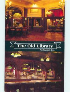Unused Pre-1980 OLD LIBRARY RESTAURANT Olean New York NY v6096-22