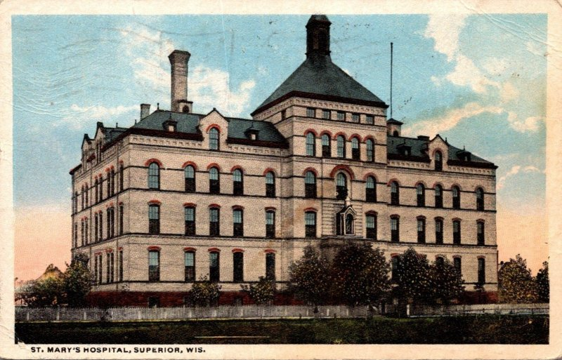 Wisconsin Superior St Mary's Hospital 1919