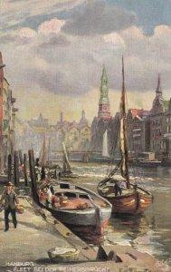 HAMBURG , Germany, 1900-10s ; Fleet dei der Reimersbrucke ;  TUCK 7599