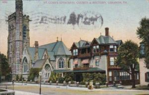 Church St Luke's Episcopal Church and Rectory Lebanon Pennsylvania 1908