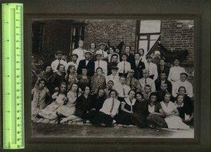 230920 USSR 1927 Krasnyi Luch seven-year school CABINET PHOTO