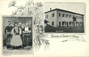 albania, SHKODRA SHKODER SCUTARI, Multiview, Hotel Europa, Costumes (1899)