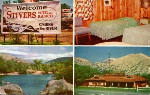California Three Rivers Stivers Motel and Ranch 1961