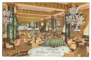 Hotel Willard Room Cocktail Lounge Washington DC Linen