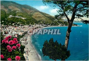 Postcard Modern Riviera dei Flori Alassio Panorama