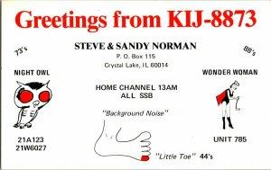QSL Radio Card From Crystal Lake IL Illinois KIJ-8873